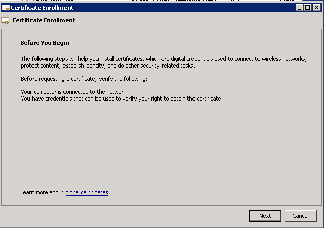 Manually generating the certificate request for lync web services select proceed without enrollment policy yadclub Image collections